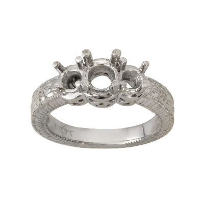 Three Stone Antigue Wedding Band